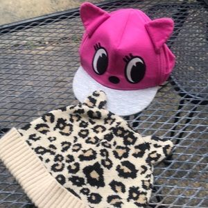 Toddler girls cat hat lot H&M the children's place